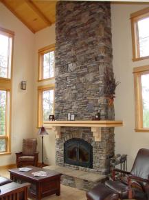 STONE CORNER FIREPLACE DESIGN IDEAS, PICTURES, REMODEL AND